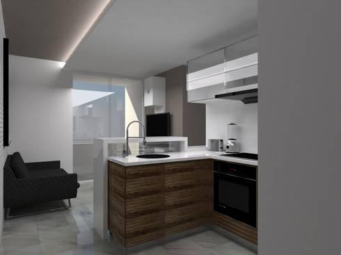 Remodelación Apartamento Agua Blanca. Valencia: Cocinas de estilo moderno por Marianny Velasquez arquitecto