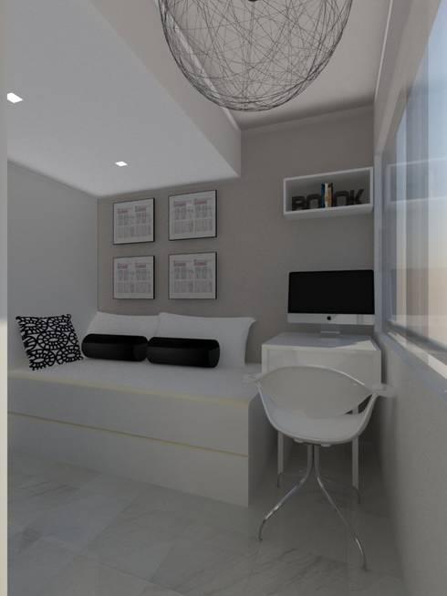 Remodelación Apartamento Agua Blanca. Valencia: Cuartos de estilo moderno por Marianny Velasquez arquitecto