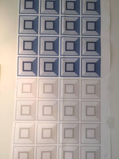 Printworks: Parede e pavimento  por Paulo Werneck Decor