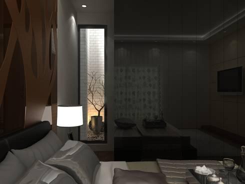 C-1860 Sushant Lok 1, Gurgaon, Haryana: modern Bedroom by Indeera Builders Private Limited