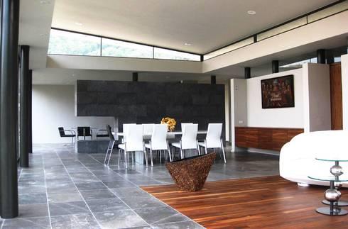 CASA MV RENACIMIENTO: Salas de estilo moderno por planeta diseño + construcción SA de CV