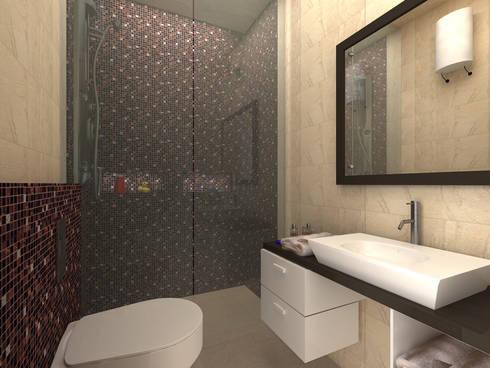 C-1860 Sushant Lok 1, Gurgaon, Haryana: modern Bathroom by Indeera Builders Private Limited