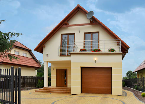 Realizacja projektu Brzoza: styl klasyczne, w kategorii Domy zaprojektowany przez Biuro Projektów MTM Styl - domywstylu.pl