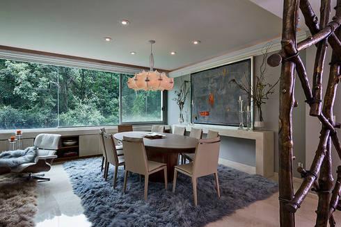 Residencia Toronjos: Comedores de estilo moderno por Olivia Aldrete Haas