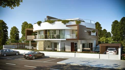 Moradia Bifamiliar:   por Arqui3 Arquitectos Associados
