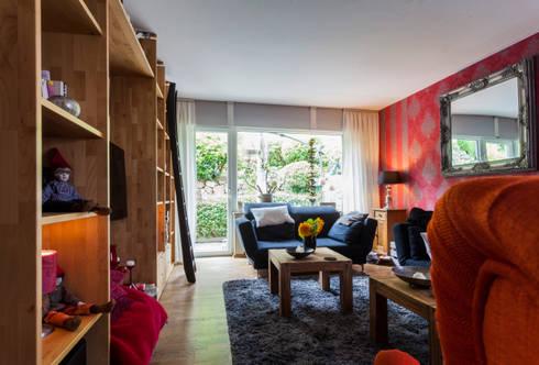 Impressionen bei privatkunde ii von frank scheiter for Moderne fensterdekoration wohnzimmer