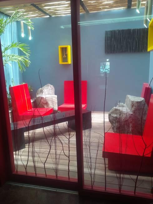 restaurante: Terrazas de estilo  por bello diseño interior