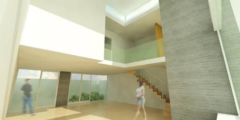 LOFT H:  de estilo  por Flores Rojas Arquitectura