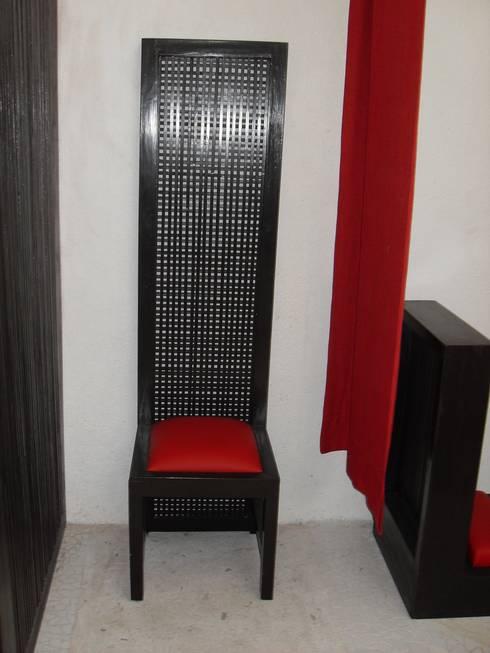 silla para confesionarios: Paisajismo de interiores de estilo  por bello diseño interior