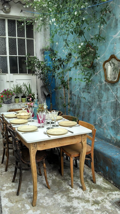 MESAS ANTIGUAS INTERVENIDAS: Comedores de estilo clásico por Muebles eran los de antes - Buenos Aires