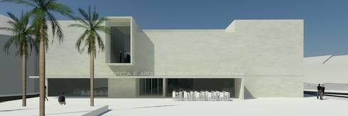 Biblioteca e Arquivo Municipal de Grândola: Centros de exposições  por ATELIER DA CIDADE