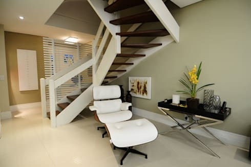 Sala Estar /Jantar Residência: Salas de estar modernas por Angela Ognibeni Arquitetura e Interiores