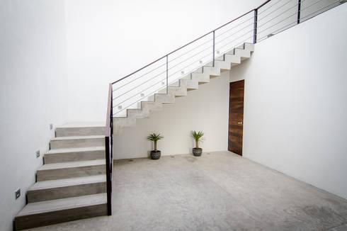 PRO-MEDICA: Pasillos y recibidores de estilo  por Estudio Tresuncuarto