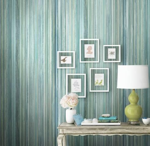 Watercolor: Paredes de estilo  por Diseño Interior  & Papel Tapiz