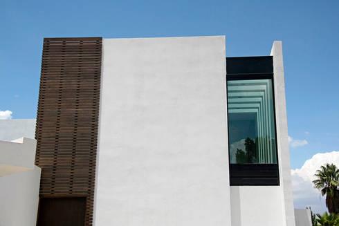 Detalle en fachada: Casas de estilo moderno por Narda Davila arquitectura