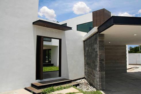 Acceso principal: Casas de estilo moderno por Narda Davila arquitectura