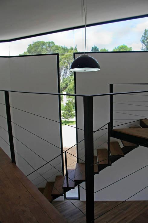 Iluminación natural en biblioteca: Estudios y oficinas de estilo  por Narda Davila arquitectura