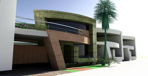 Fachadas: Casas de estilo moderno por La Casa del DiseÑo
