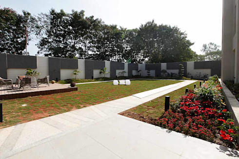 NEMI VILLA: modern Garden by INNERSPACE