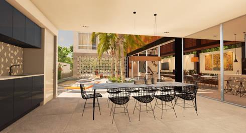 Casa Alphaville: Casas modernas por Macro Arquitetos