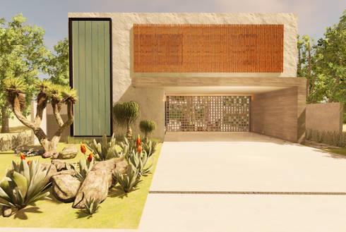 Casa Alphaville: Garagens e edículas modernas por Macro Arquitetos