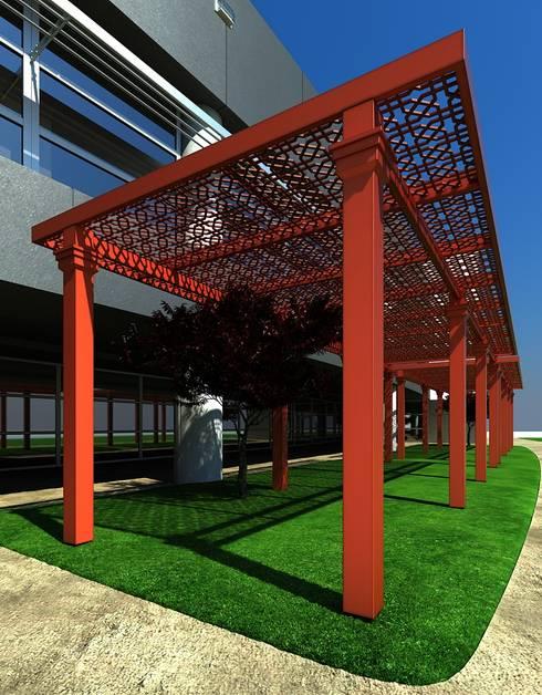 Balcones, porches y terrazas de estilo  por PERGOLART