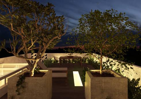 Casa L.&J. : Terraços  por Macro Arquitetos