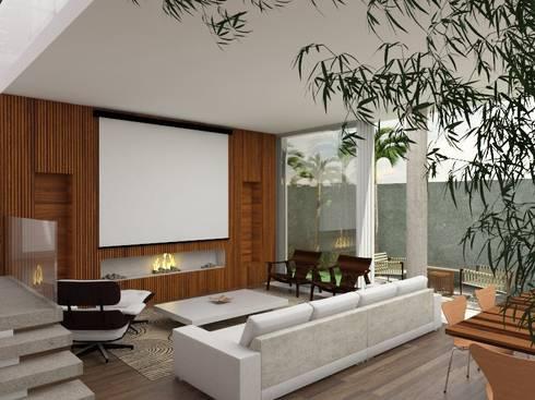 Casa L.&J. : Salas de estar modernas por Macro Arquitetos
