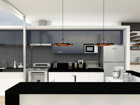 Casa L.&J. : Cozinhas modernas por Macro Arquitetos