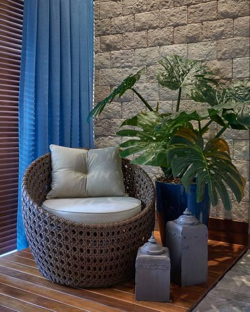 Decora Lider Vitória - Sala de Jantar Integrada à Varanda: Salas de estar modernas por Lider Interiores