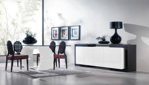 Mobiliário de salas de jantar Dining rooms furniture www.intense-mobiliario.com  Sendokai http://intense-mobiliario.com/product.php?id_product=483: Sala de jantar  por Intense mobiliário e interiores;