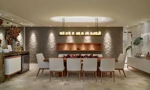 Decora Lider Vitória - Varanda Gourmet: Salas de jantar modernas por Lider Interiores