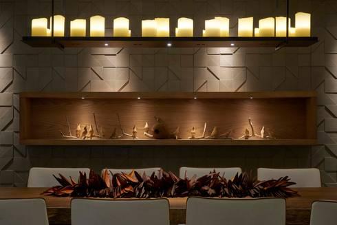 Decora Lider Vitória – Varanda Gourmet: Salas de jantar modernas por Lider Interiores