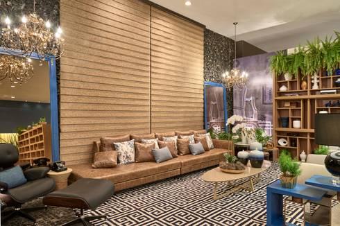 Mostra de Ambientes de Sete Lagoas - Sala de Estar: Salas de estar modernas por Lider Interiores