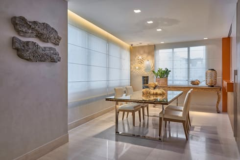 Apartamento ME: Salas de jantar modernas por Isabela Canaan Arquitetos e Associados