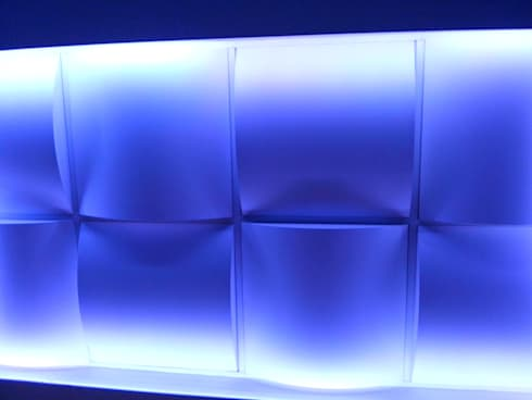 Pafón modular reticular 3D: Clínicas / Consultorios Médicos de estilo  por PUNTO A PUNTO ARQUITECTURA
