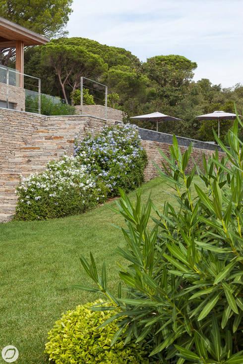 VILLA & JARDIN - SAINT-TROPEZ: Jardin de style  par PASSAGE CITRON