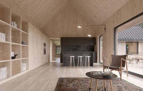 Cocinas de estilo escandinavo por INT2architecture