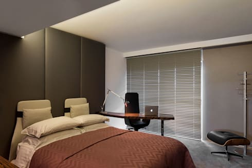 Cascais Penthouse: Quartos minimalistas por GAVINHO Architecture & Interiors