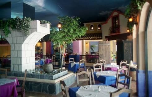 OK Maguey I : Restaurantes de estilo  por Boué Arquitectos