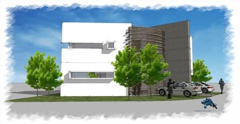 Perspectiva lateral:  de estilo  por villarreal arquitectos y urbanistas asociados sc