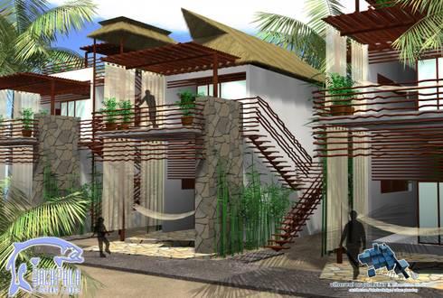 TERRAZA DE DESCANSO:  de estilo  por villarreal arquitectos y urbanistas asociados sc