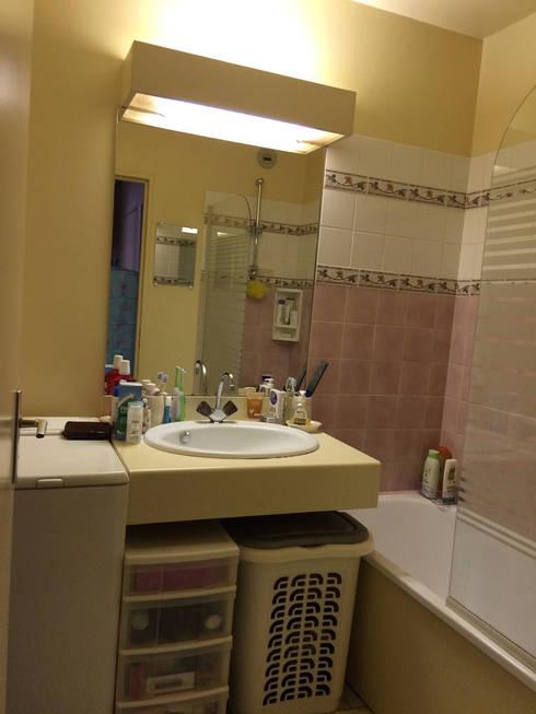 Salle bain avant- Appartement Courbevoie:  de style  par Nuance d'intérieur