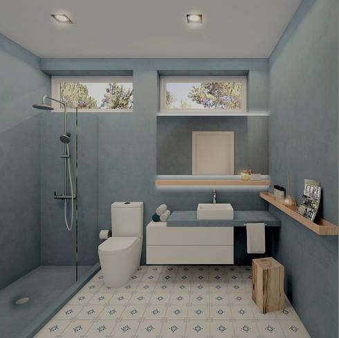 Moradia Sintra: Casas de banho modernas por MRS - Interior Design