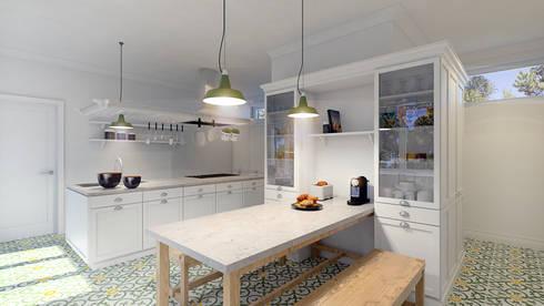 Moradia Sintra: Cozinhas campestres por MRS - Interior Design