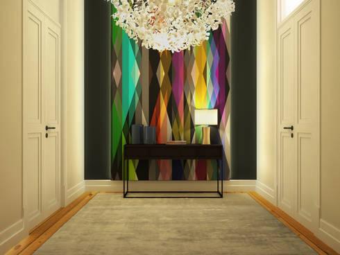Apartamento Rodrigo da Fonseca: Corredores e halls de entrada  por MRS - Interior Design