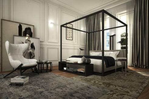 Apartamento Rodrigo da Fonseca: Quartos modernos por MRS - Interior Design