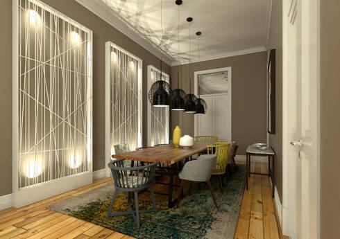 Apartamento Rodrigo da Fonseca: Salas de jantar modernas por MRS - Interior Design