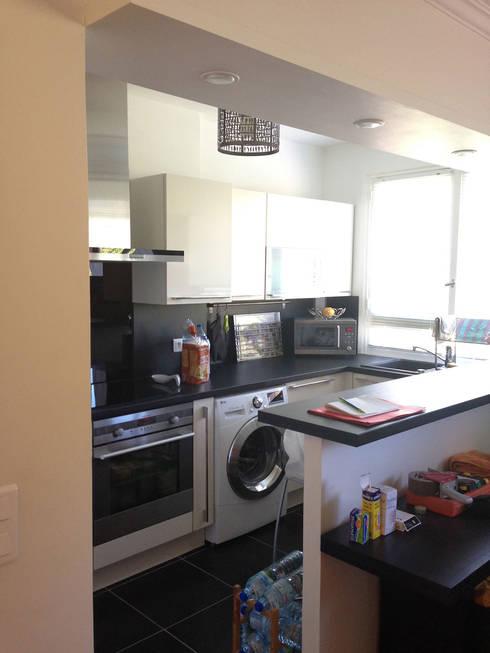 Appartement Marly-Le-Roi- Cuisine avant :  de style  par Nuance d'intérieur