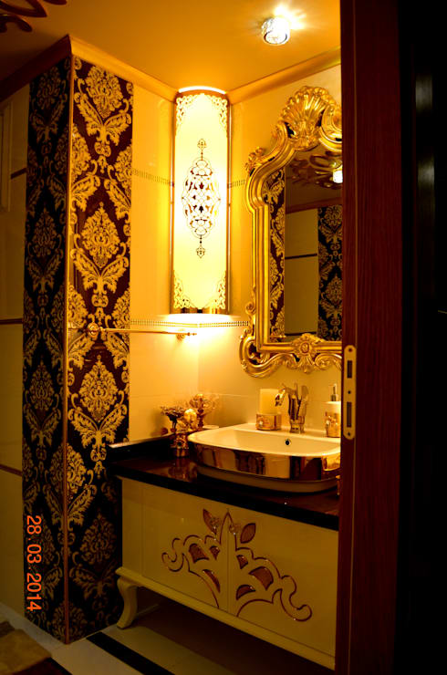 Mimar Melike Topal  – M&A Birer Evi_Alanya: klasik tarz tarz Banyo